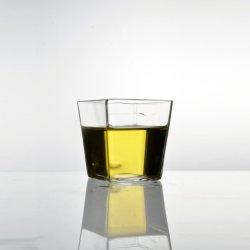 Carré transparent en verre sans plomb tasse tasse/pour les jus/lait/thé