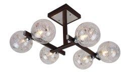 6*G9 최대 28W 천장 램프 안정되어 있는 기초를 가진 현대 유리제 철 천장 빛
