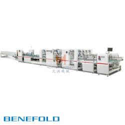 Автоматическое складывание Benefold и станок для нанесения клея с сертификат CE (1450/1600/1800)