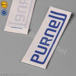 Sinicline 자연적인 백색 파란 로고는 레이블 의복을 인쇄했다