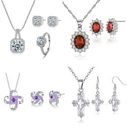 Bienvenue en alliage d'ODM OEM Cooper Handmade Collier Bracelet Earrings Ring Set Bijoux