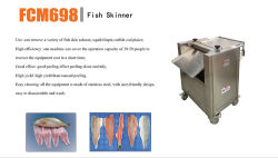Peeling peau de poisson Saumon industriels retrait Calmar Commerciale de l'écorcher la machine