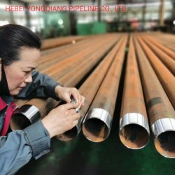 Öl-umkleidendes Stahlrohr API-5CT J55/K55/L80/N80/P110/Q125 (OCTG)