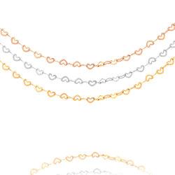 Les fabricants de bijoux Fashion Necklace forme de coeur Bracelet Chaîne Chaîne de cheville Lady la conception de bijoux en acier inoxydable plaqué or