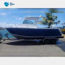 Barcos desportivos barco de alumínio com Hardtop 21FT Sail Barco de Pesca Cuddy Barco de cabina para venda