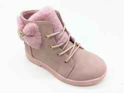 Ребенка девочка из натуральной кожи для детей повседневный бабочка плоский Boot обувь
