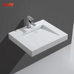Konkrete graue künstliche SteinCorian Badezimmer-Wanne über Gegenwäsche-Bassin für Badezimmer