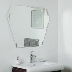 징후 욕실 벽 장착형 거울 사면 사면 모서리 거울 홈 장식용 욕실 가구 메이크업 거울