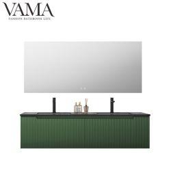Governo di stanza da bagno caldo dei doppi dispersori di legno solido di vendita di Vama 1600mm con lo specchio astuto 306160 del LED