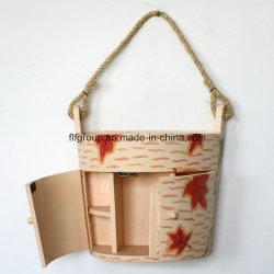 주문을 받아서 만들어진 손으로 그리는 벽 장식적인 목제 비누 상자