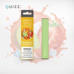 Quizz使い捨て可能なVapeのペン300のパフ1.2mlの卸売価格の小売りパッケージのいちごの味