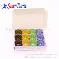 Piatto di vetro Nessun-A gettare dentale di Dappen/strumento dentale tazza medica variopinta per uso del laboratorio