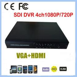 4 CH 1080P/720p DVR SDI en temps réel soutien CMS, Web, téléphone mobile commande PTZ, 2*3T, de la CCTV SATA H264 Caméra de vidéosurveillance caméra HD SDI