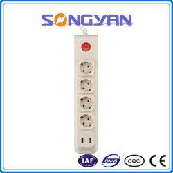 Prise d'extension d'une multiprise avec ports USB Prise d'alimentation verticale
