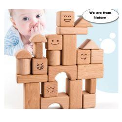 Les enfants en bois naturel de l'éducation des blocs de construction de la Chambre pour les enfants