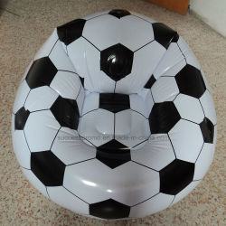 Design de futebol promocional cadeira insuflável de PVC, Sofá insuflável