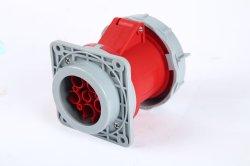 Commando 32A 5p Red IP67 Flush Straight Socket