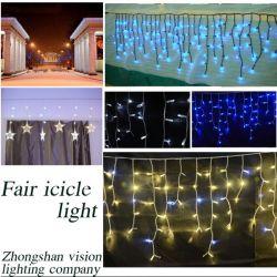 Música Icicle LED luz de Cortina de Luz para decoração exterior