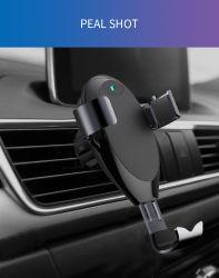 Montagem do carregador de carro sem fio com USB-C, Auto-Clamp 10W Qi Carga Rápida, Windshield Arejador do painel de suporte do telefone