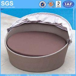 Muebles de ratán impermeable plegada ronda dosel Sofá Sofá cama