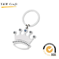 Die Crown Shaped Silver Key Chain mit Diamonds und Crystal Ym1029