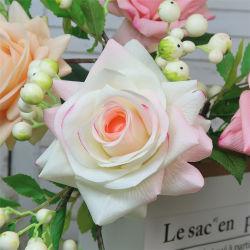 Flores artificiais decoração de casamento flor rosa Artificial verdadeiro toque em casas de Flores decoração de jardim