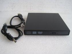 Slim externo USB 2.0 Portable DVD-RW Unidad óptica para Laptop