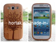 Super affaire excellent modèle de l'arbre de forme en bois de cerisier pour Samsung Galaxy de cas 3 (HT-YT-004)