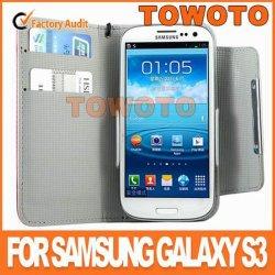 Housse en cuir pour Galaxy S3 I9300 Flip avec fermeture magnétique et emplacements de carte
