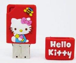 Hello Kitty PVC USB Flash Pendrive Modelo no. UF-323