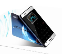 Plus petit Mini-carte ultra mince OLED Téléphone mobile cellulaire GSM MP3 Bluetooth