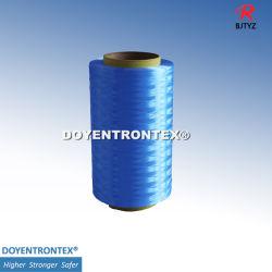Fibra de UHMWPE/PE/fibra a fibra de polietileno para Cut-Resistant luvas/Asférica com peso molecular de fibra de polietileno (fibras coloridas) (TYZ-TM30-800D-Azul Escuro)