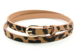 Leopard дизайн женских Skinny ремень Ky5810