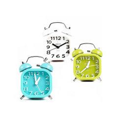 Высокая производительность 85мм Twin Bell кольцо таблица будильник с ночной свет письменный стол с часами и будильником