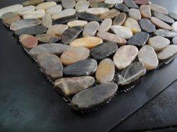 Rio plana para pavimentação de malha de pedra de calhau