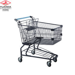사용된 슈퍼마켓 장비 고품질 미국식 쇼핑 트롤리