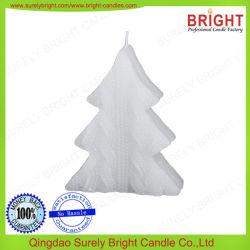 De witte Decoratie van de Kaars van de Ambacht van de Kerstboom van de Kleur