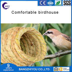 Alim Nest des heißen Vogels des Strohs macht das Fertigkeit-Vogel-Nest-künstliche Spinnen für die Papageimacaw-afrikanischen Grau in Handarbeit