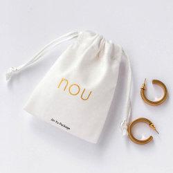 O ouro branco do logotipo Suede Velvet Dom jóias sacos de Bolsa de embalagem