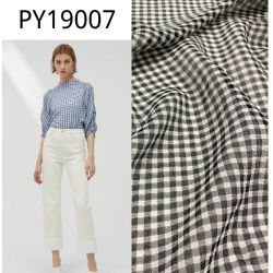 Py19007 Controles catiónica de poliéster de bandas de tejido de gasa vestido