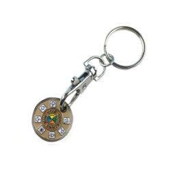 Оптовая торговля Корзина тележка маркер медали держатель цепочки ключей