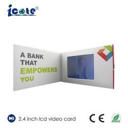 사업을%s 2.4 인치 LCD 영상 유명한 카드