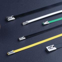 Usine de haute qualité fournissent directement attache de câble en acier inoxydable avec revêtement