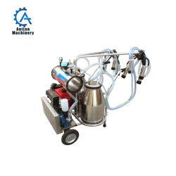 Portátil tipo pistón de ordeño maquinaria de procesamiento de leche humana