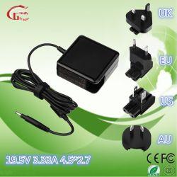 Forme carrée Ordinateur portable HP chargeur pour ordinateur portable du transformateur de puissance de pièces pour ordinateur portable