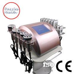 Professional 6 в 1 вакуумных кавитация RF Lipolaser органа похудение машины
