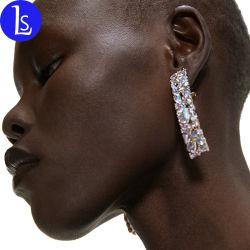 De style européen et américain grand carré alliage Diamond Earrings