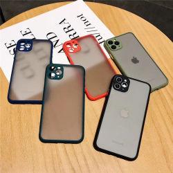 Tampa do telefone móvel celular caso iPhone 11 Orifício de precisão suave para a pele de um pacote completo de Shell52 Huawei Nova7Pro Matte de contraste de cor da tampa protetora Y50 114