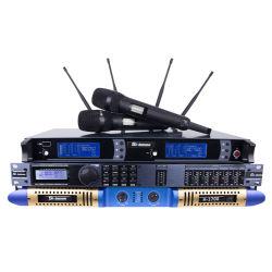 UHF беспроводной микрофон Skm9000 звуковой процессор Dbx260 2 Ом стабильной 2X3600W цифровой усилитель