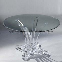 판매를 위한 아크릴 투명한 명확한 둥근 식탁